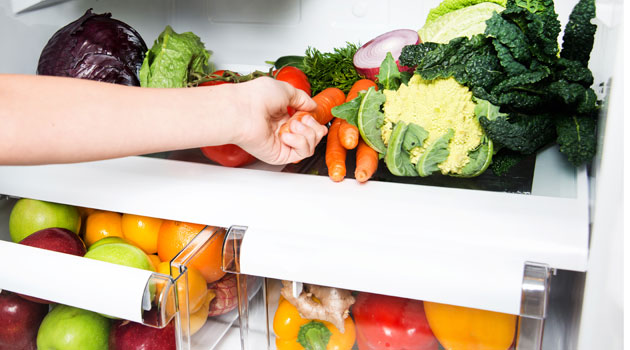 vegetables fridge