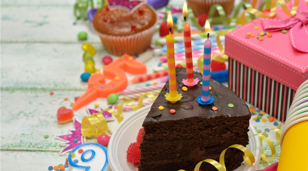Kids' chocolate birthday cake