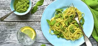 lemon and basil pasta