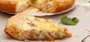 roast parsnip and salmon quiche
