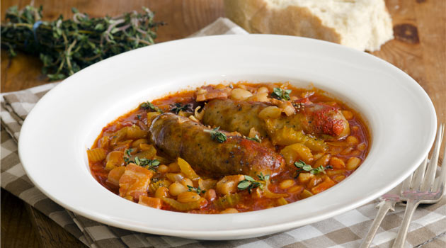 Sausage and bean recipe