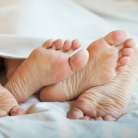 sex and menopause - feet in bed