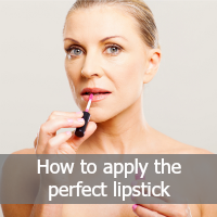 apply the perfect lipstick - text
