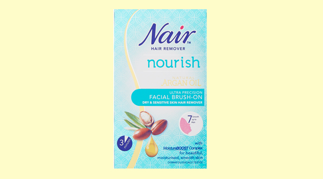 Nair facial hair removal cream