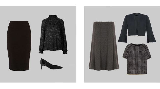 funeral skirt outfits