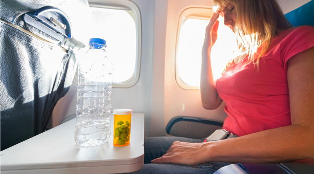 woman on a plane fear of flying
